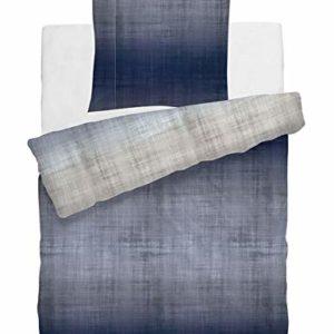 Kuschelige Bettwäsche aus Satin - blau 135x200 von HNL