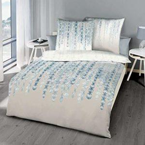 Traumhafte Bettwäsche aus Satin - blau 135x200 von Kaeppel