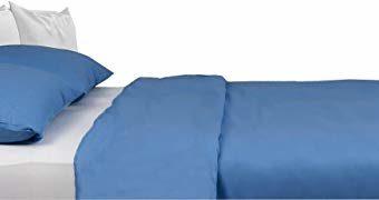 Kuschelige Bettwäsche aus Satin - blau 220x240 von Carpe Sonno