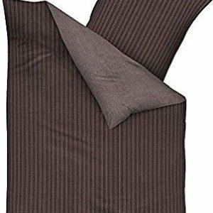 Traumhafte Bettwäsche aus Satin - braun 135x200 von Kaeppel