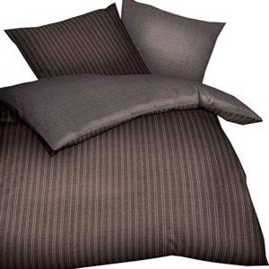 Schöne Bettwäsche aus Satin - braun 200x200 von Kaeppel