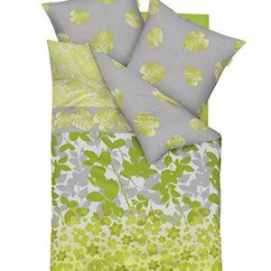 Traumhafte Bettwäsche aus Satin - grün 155x220 von Kaeppel