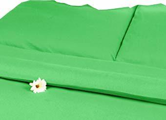Hübsche Bettwäsche aus Satin - grün 220x240 von Carpe Sonno