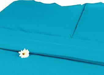 Hübsche Bettwäsche aus Satin - petrol 155x220 von Carpe Sonno