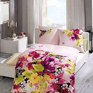 Hübsche Bettwäsche aus Satin - rosa 155x220 von Kaeppel