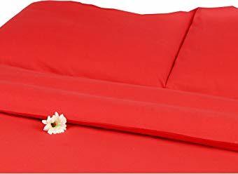 Hübsche Bettwäsche aus Satin - rot 135x200 von Carpe Sonno