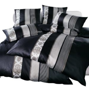 Kuschelige Bettwäsche aus Satin - schwarz 135x200 von Joop