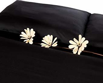 Traumhafte Bettwäsche aus Satin - schwarz 155x200 von Carpe Sonno