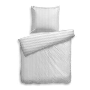 Schöne Bettwäsche aus Satin - weiß 135x200 von HnL Living