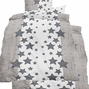 Schöne Bettwäsche aus Seersucker - petrol 135x200 von KH-Haushaltshandel