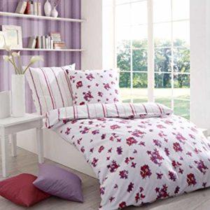 Hübsche Bettwäsche aus Seersucker - rosa 135x200 von Kaeppel