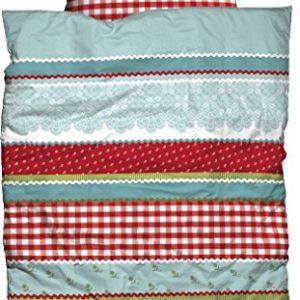 Traumhafte Bettwäsche aus Baumwolle - rot 135x200 von Casatex