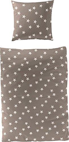 Traumhafte Bettwäsche aus Biber - braun 135x200 von Bierbaum