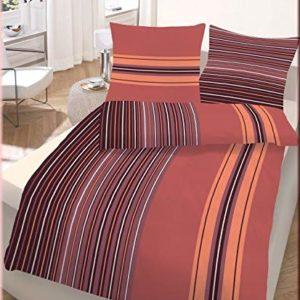 Kuschelige Bettwäsche aus Biber - braun 135x200 von Ido