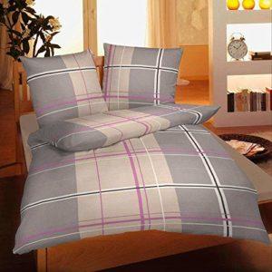Traumhafte Bettwäsche aus Biber - grau 135x200 von Magita