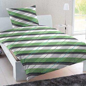 Traumhafte Bettwäsche aus Biber - grün 135x200 von Keno Kent