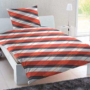 Traumhafte Bettwäsche aus Biber - rot 135x200 von Keno Kent