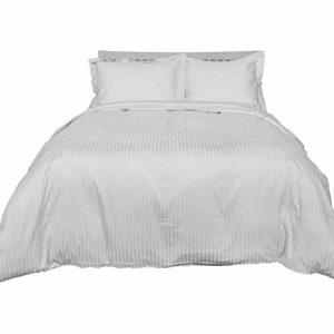 Kuschelige Bettwäsche aus Damast - weiß 220x240 von Homescapes
