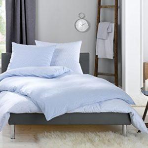 Kuschelige Bettwäsche aus Flanell - blau 135x200 von Lorena