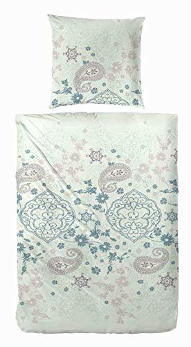 Kuschelige Bettwäsche aus Flanell - blau 135x200 von Primera