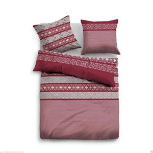 Traumhafte Bettwäsche aus Flanell - rot 155x220 von TOM TAILOR