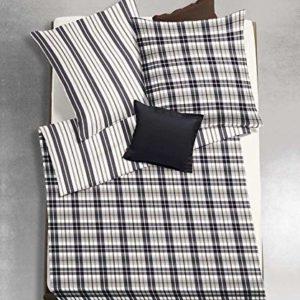 Kuschelige Bettwäsche aus Flanell - schwarz 135x200 von fleuresse