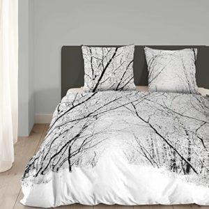 Hübsche Bettwäsche aus Flanell - weiß 155x220 von Good Morning!