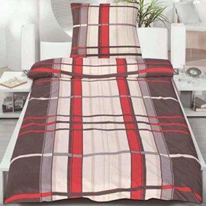 Schöne Bettwäsche aus Microfaser - rot 135x200 von Magita