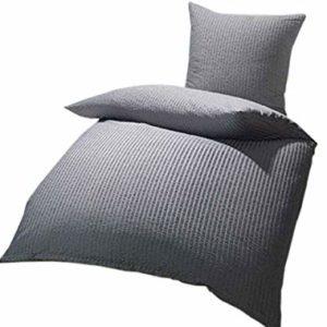 Kuschelige Bettwäsche aus Microfaser - Sterne grau 135x200 von lifestyle4living