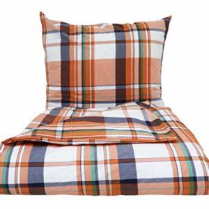 Traumhafte Bettwäsche aus Perkal - grau 135x200 von Lasa Internacional