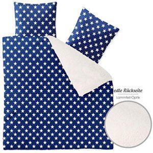 Traumhafte Bettwäsche aus Polyester - Sterne blau 200x220 von CelinaTex