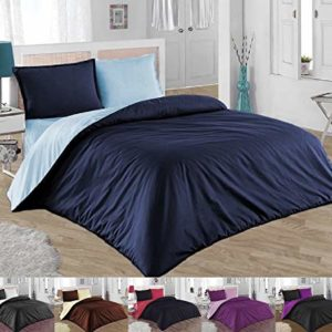 Traumhafte Bettwäsche aus Renforcé - blau 155x200 von GH Homeshop