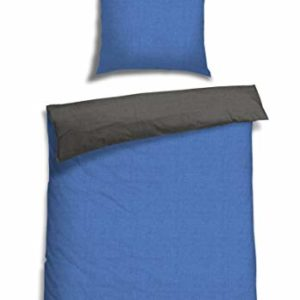 Hübsche Bettwäsche aus Renforcé - blau 155x220 von Schiesser