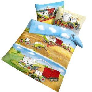 Hübsche Bettwäsche aus Renforcé - braun 100x135