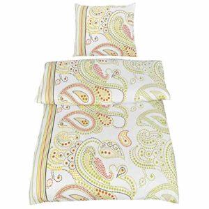 Schöne Bettwäsche aus Renforcé - grün 135x200