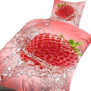 Schöne Bettwäsche aus Renforcé - rot 135x200 von Bertels
