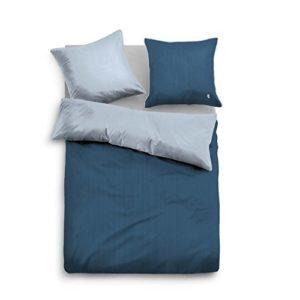 Hübsche Bettwäsche aus Satin - blau 155x200 von TOM TAILOR