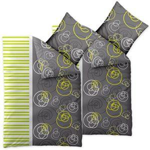 Kuschelige Bettwäsche aus Seersucker - grün 135x200 von CelinaTex