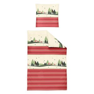Traumhafte Bettwäsche aus Biber - rot 135x200 von Irisette