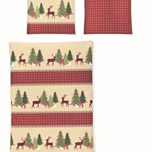 Kuschelige Bettwäsche aus Biber - rot 135x200 von Irisette