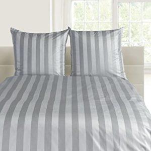 Schöne Bettwäsche aus Damast - grau 135x200 von Curt Bauer
