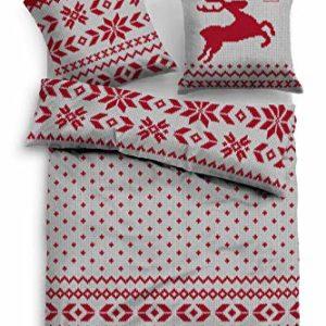 Kuschelige Bettwäsche aus Flanell - grau 135x200 von Tom Tailor