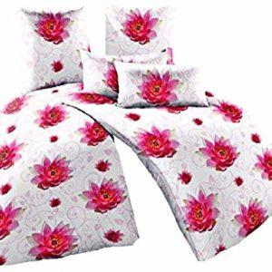 Traumhafte Bettwäsche aus Fleece - rosa 135x200 von Bertels