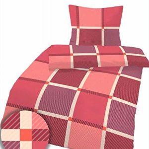 Schöne Bettwäsche aus Fleece - rot 135x200 von Ido
