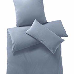 Schöne Bettwäsche aus Jersey - blau 135x200 von hessnatur