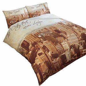 Kuschelige Bettwäsche aus Polyester - braun 200x200 von Duvet Cover