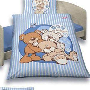 Schöne Bettwäsche aus Renforcé - blau 100x135 von Ido