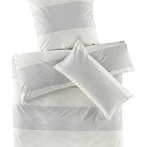 Hübsche Bettwäsche aus Renforcé - grau 135x200 von hessnatur