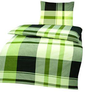 Schöne Bettwäsche aus Renforcé - grün 200x200 von optidream