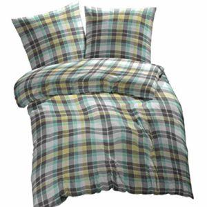 Hübsche Bettwäsche aus Renforcé - grün 200x220 von Etérea